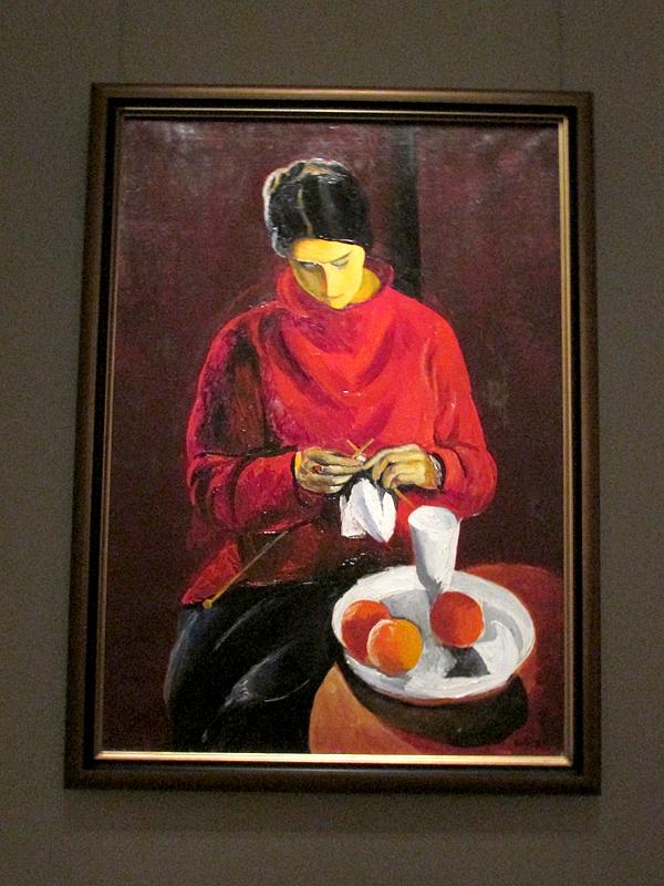 Моисей Кислинг Женщина в красном свитере 1917