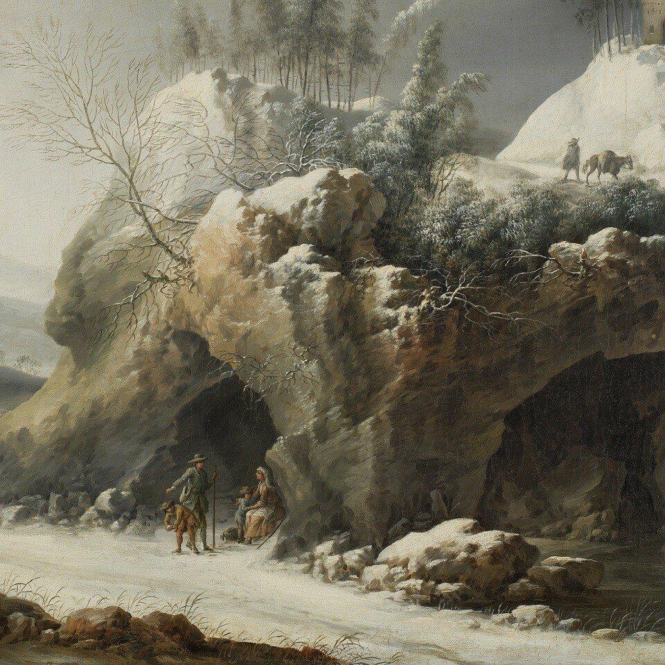 1750-1780_Зимний пейзаж с крестьянской семьей (Winter Landscape with a Paseant Family)_48 х 62_х.,м._Мадрид, Музей Тиссен-Борнемисы_деталь.jpg