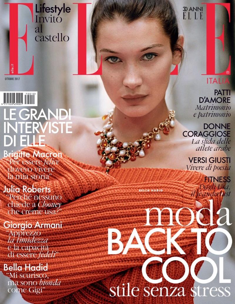 Белла Хадид в кавер-стори итальянского ELLE (9 фото)
