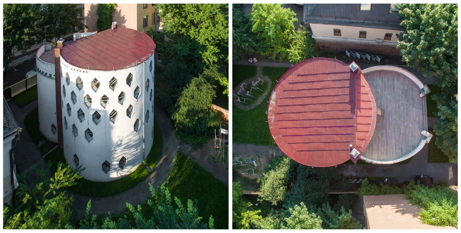 Дом был построен по собственному проекту архитектора Константина Степановича Мельникова в 1927-1929
