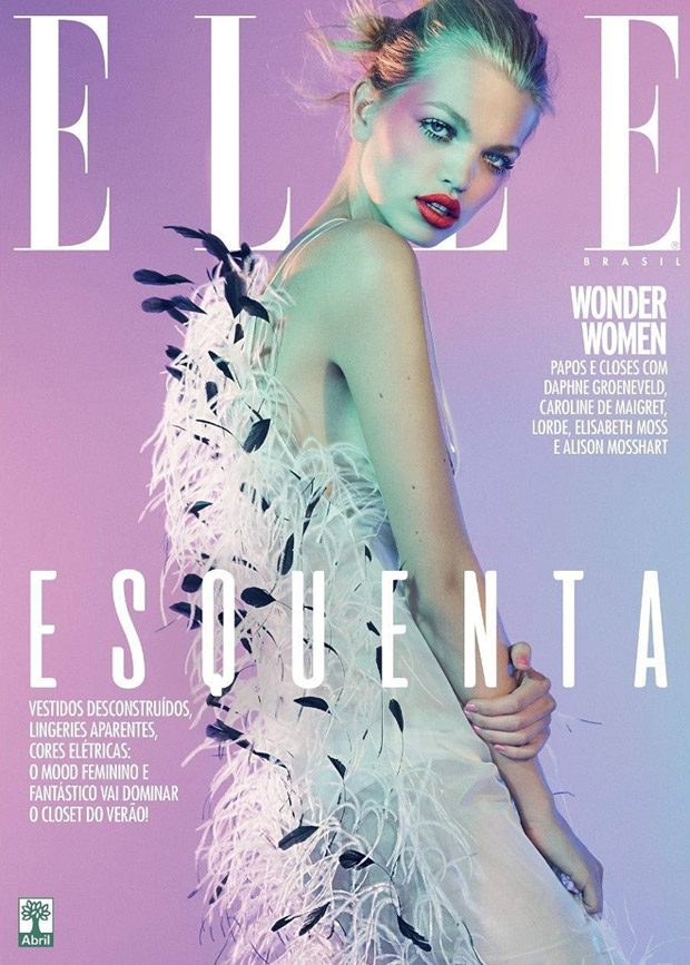 Elle Brazil features supermodel Daphne Groeneveld in the cover story of their August 2017 edition ca