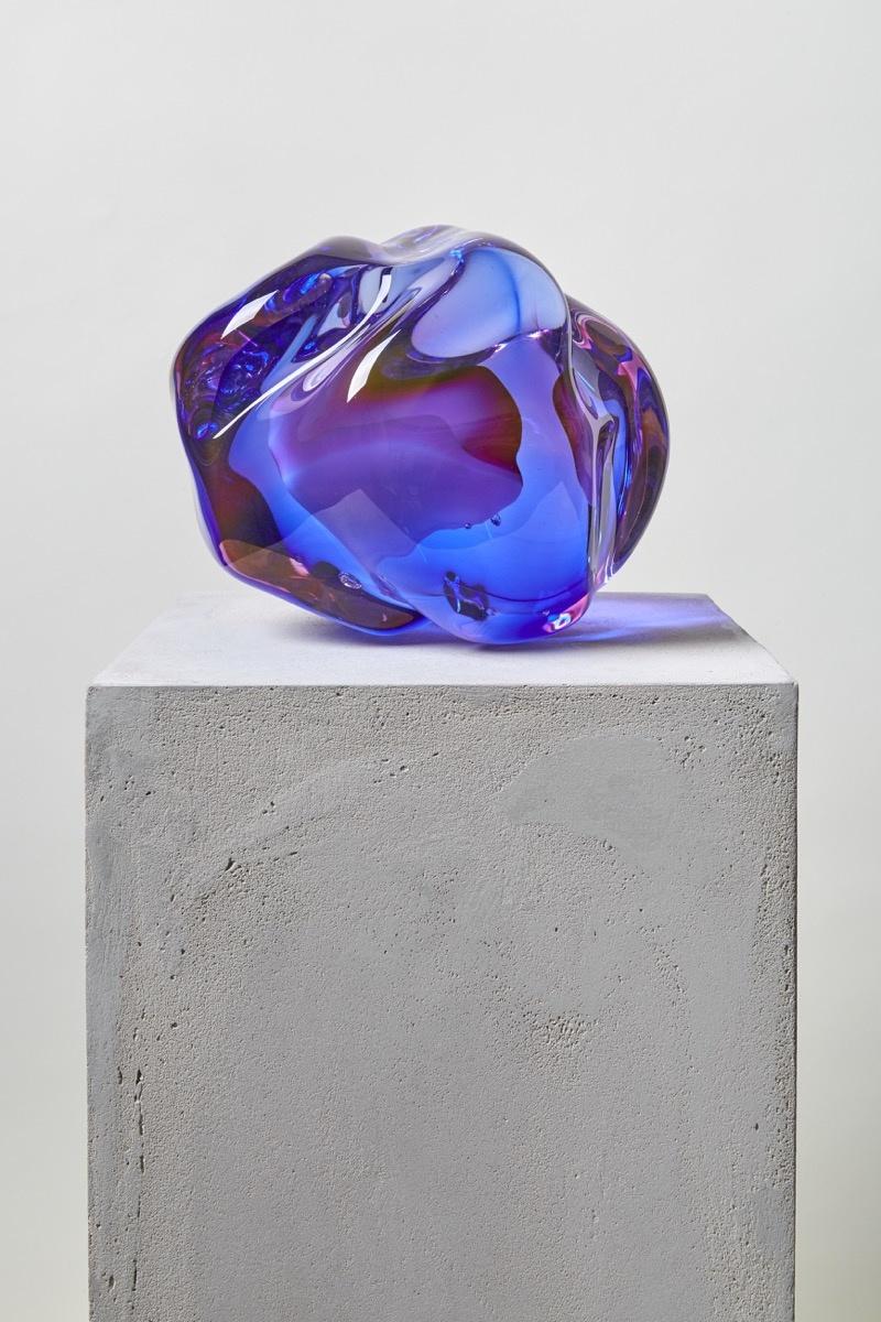 Fluid Rocks: Artist Flavie Audi Forms Gem-Like Sculptures from Glass