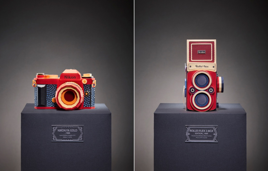Colorful Reproductions of Vintage Camera in Paper (11 pics)