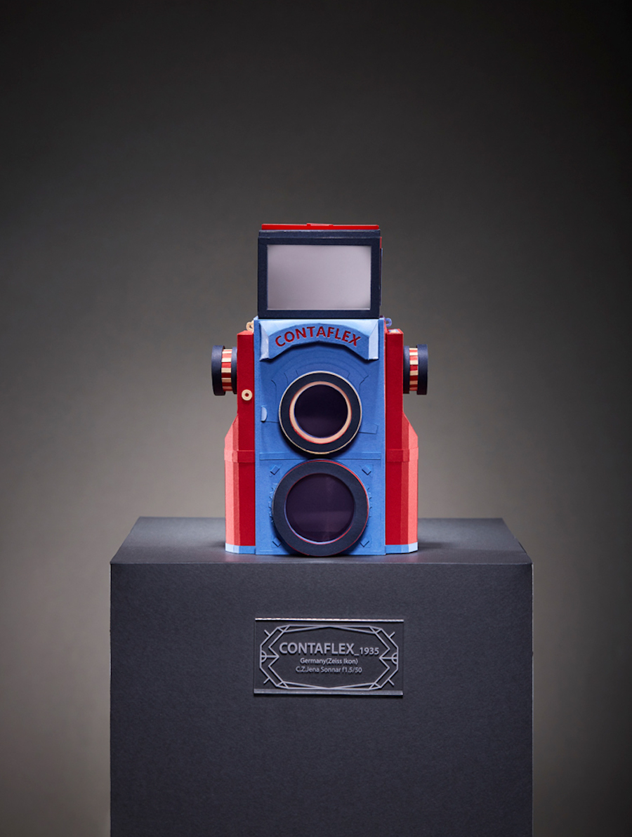 Colorful Reproductions of Vintage Camera in Paper