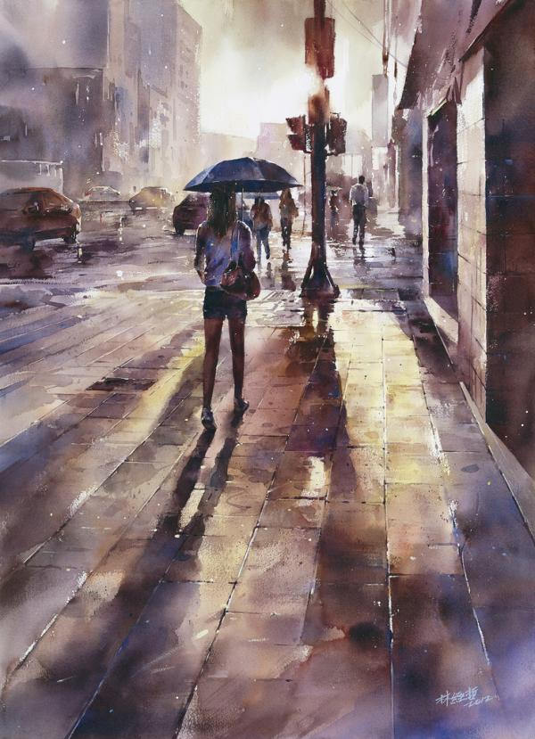 Watercolour Street Paintings – Lin Ching-Che (13 pics)