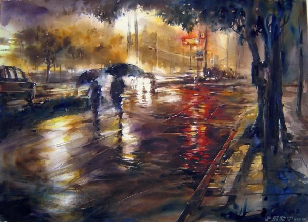 Watercolour Street Paintings - Lin Ching-Che