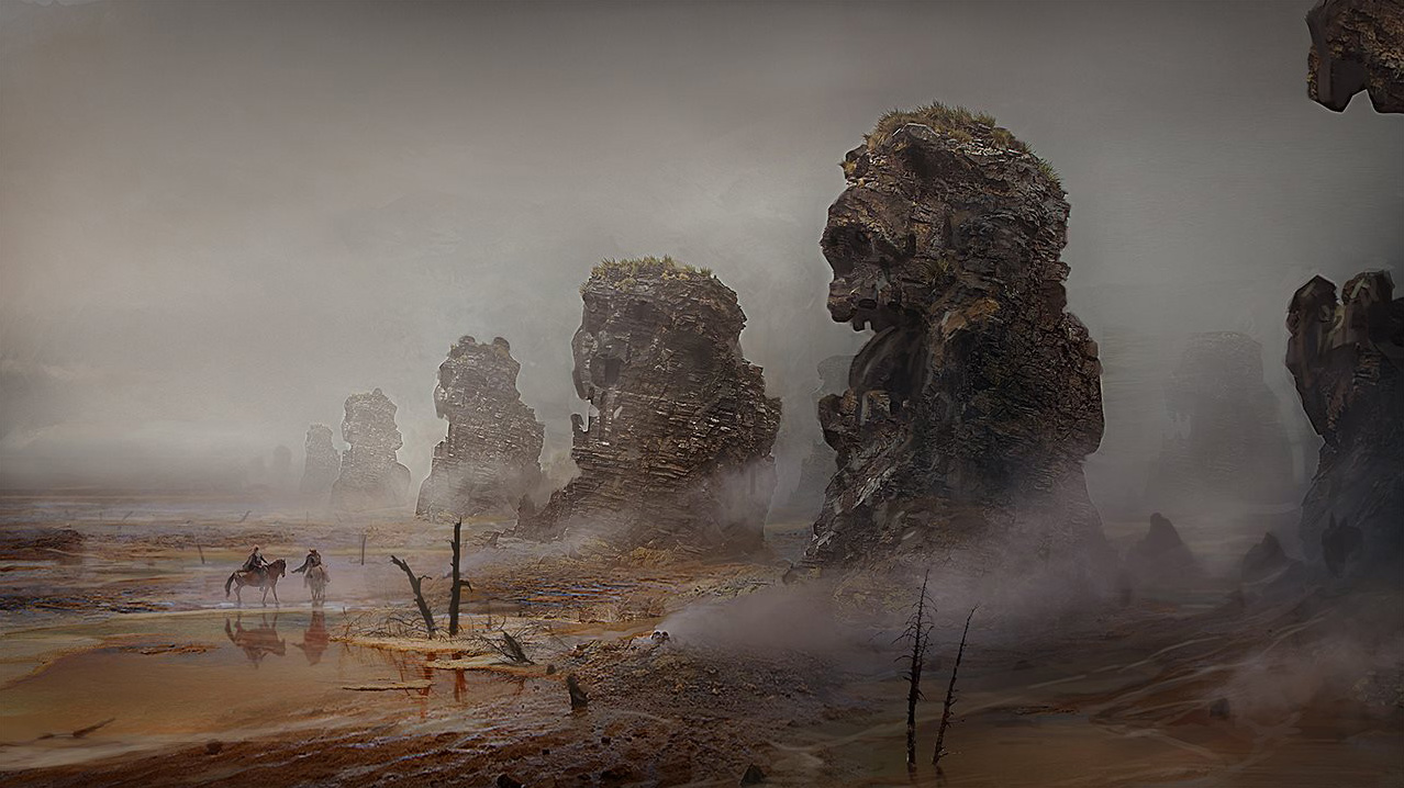 Fall of Gods Art by Rasmus Berggreen