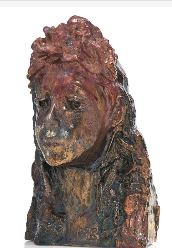 Снегурочка, GIRL WITH A WREATH (SNEGUROCHKA) Врубель Михаил Александрович (1856-1910) Глазурованный фаянс
