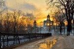 Тёплый вечер февраля в Ярославле.