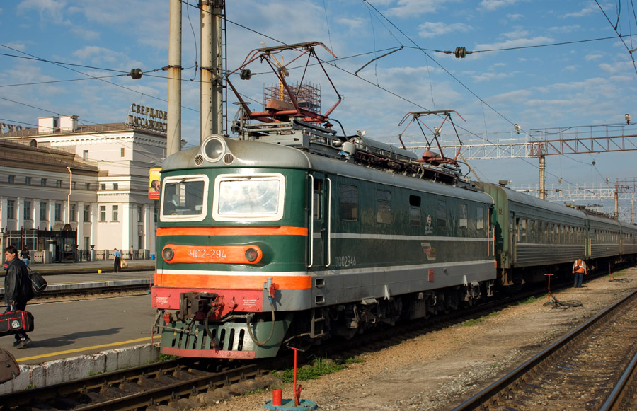 Электровоз ЧС2-294 (Skoda 53E), ст. Свердловск-Пасс Сврд.ж.д., 15 июня 2008 года