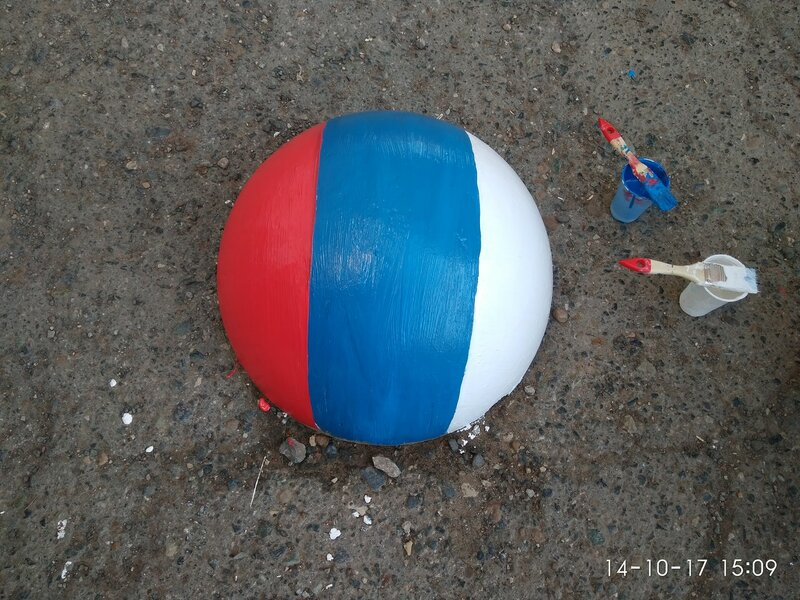 Парковочная полусфера - Патриотическая Цвета Российского флага.jpg