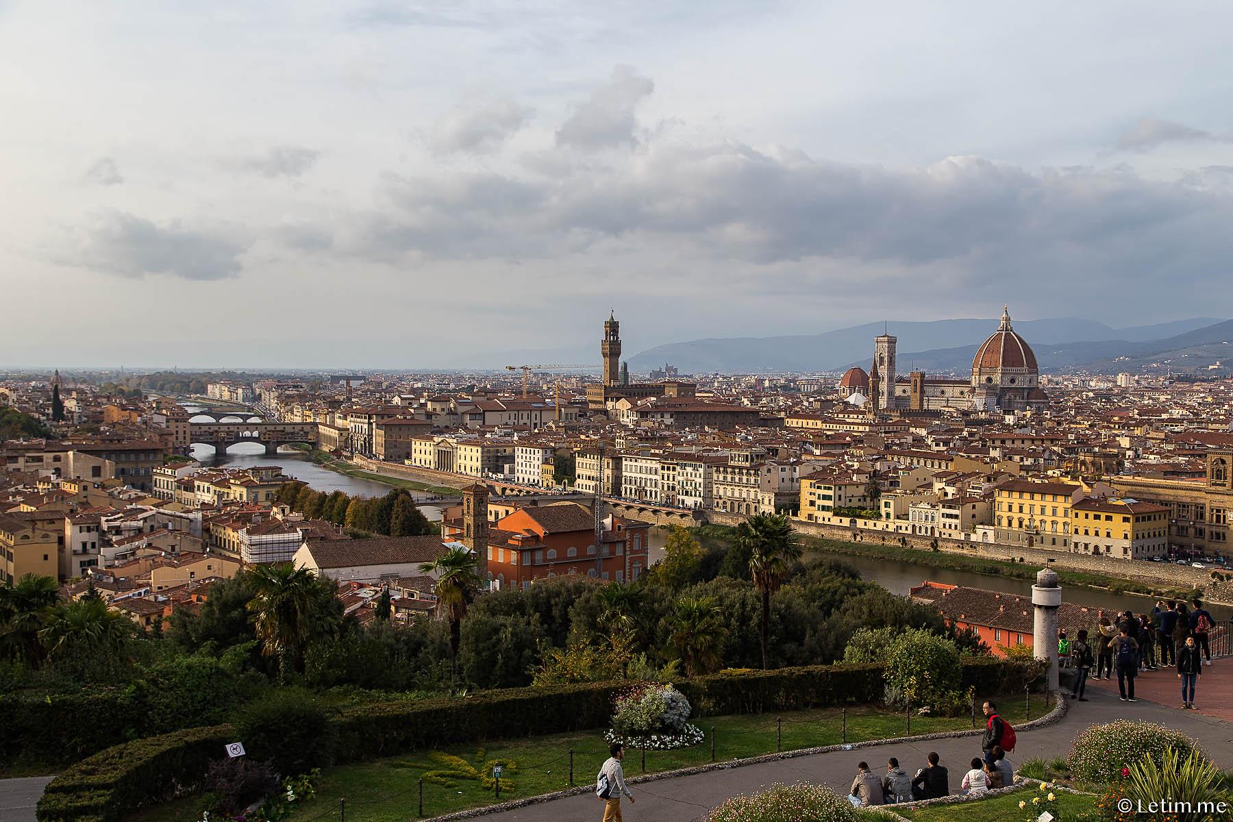 Флоренция с площади Микиладжало