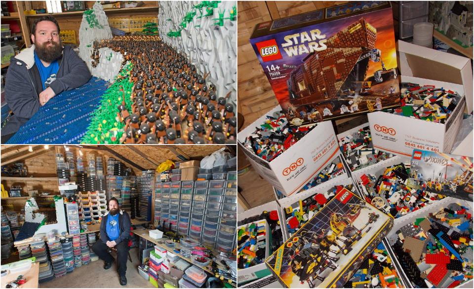 Поклонник Лего построил 5 помещений для своей коллекции