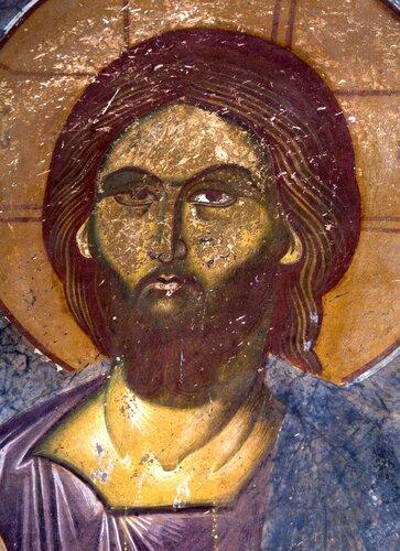 Христос Пантократор. Фреска монастыря Трескавец (Трескавац), Македония. XIV век.