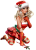 Клипарт - Новогодние девушки