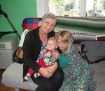 С бабушкой и сестрой