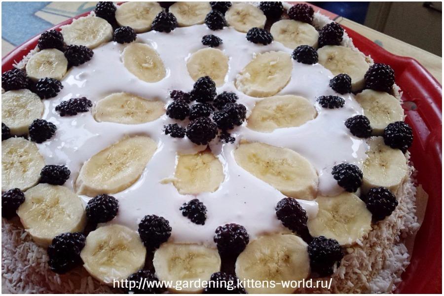 Торт бананово-ежевичное наслаждение