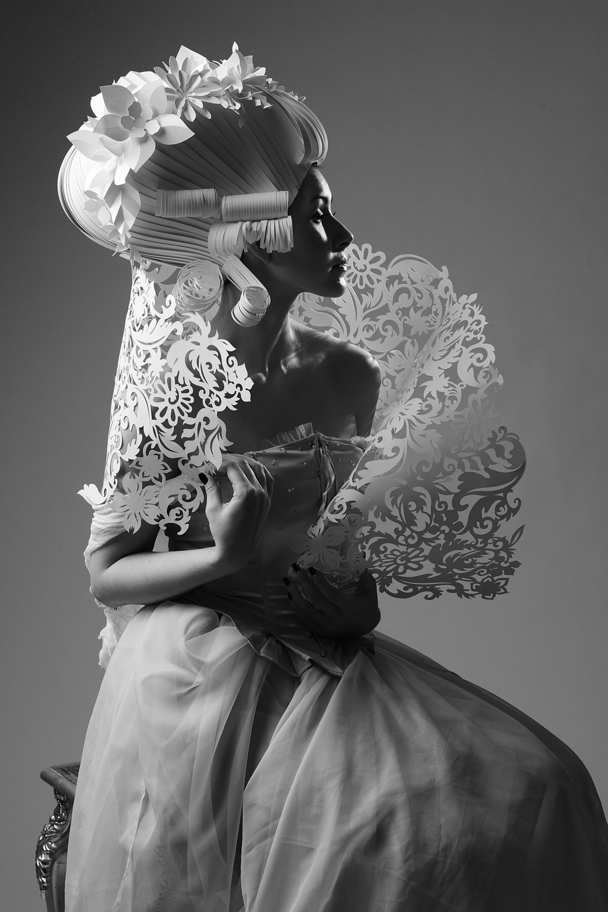 Парики из бумаги от Asya Kozina / фотограф Anastasia Andreeva