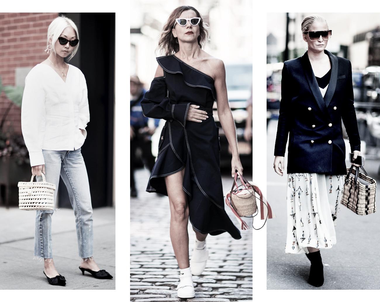 DISTRICT F - NEW YORK STREET STYLE SS18 wicker bag trend