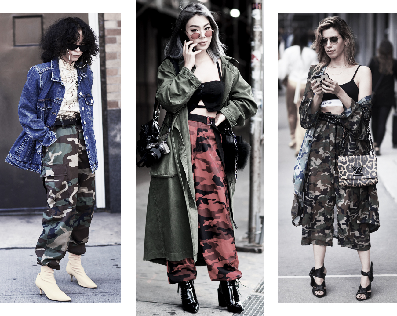 DISTRICT F - NEW YORK STREET STYLE SS18 camouflage print trend