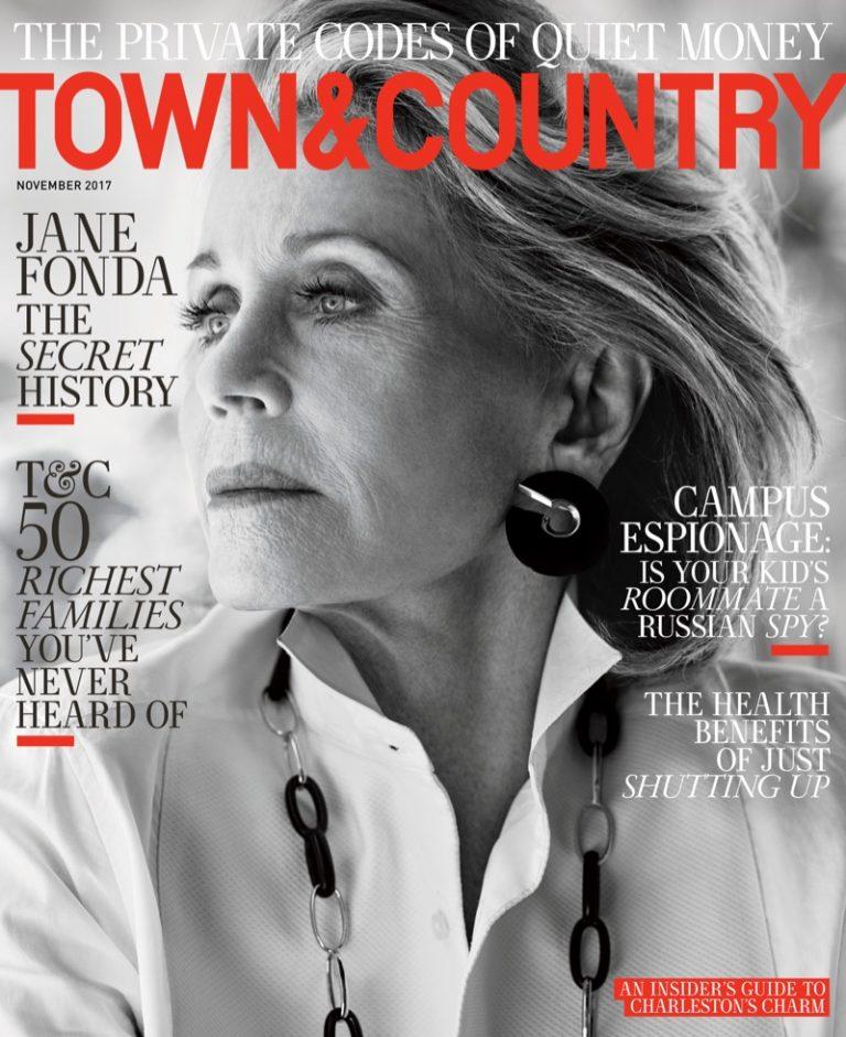 Джейн Фонда в Town & Country Magazine
