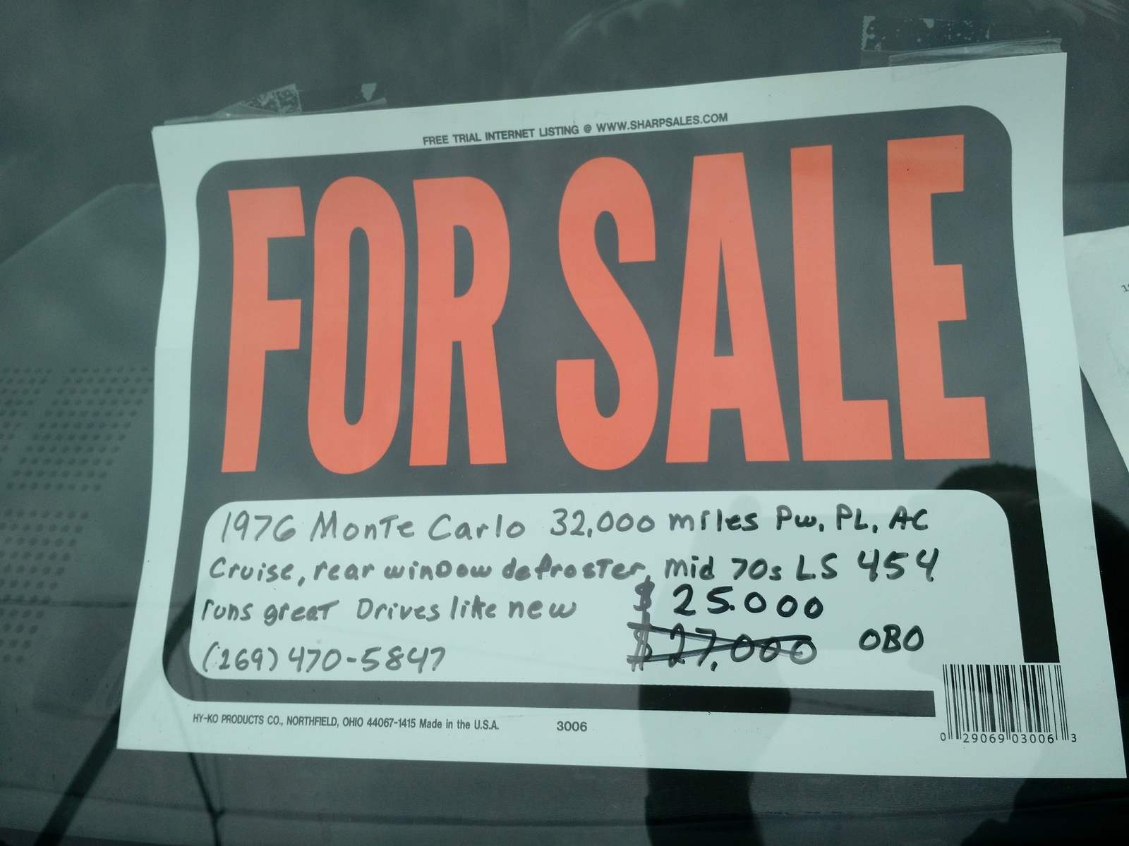 Как американцы продают свои автомобили. 1976 Chevrolet Monte Carlo, $25,000