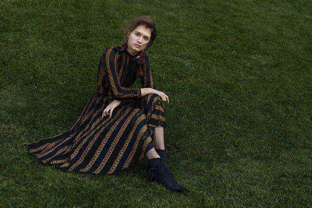 Dress: 405Story Earrings: Zara Tights: H&M Shoes: Mango