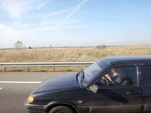 В окне авто ... 003. Фотособытие, связанное с КСП, октябрь 2017, в дороге.JPG