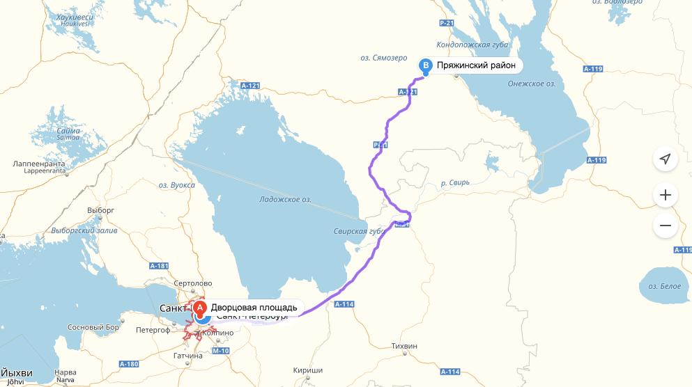 Карта проезда в северный рай