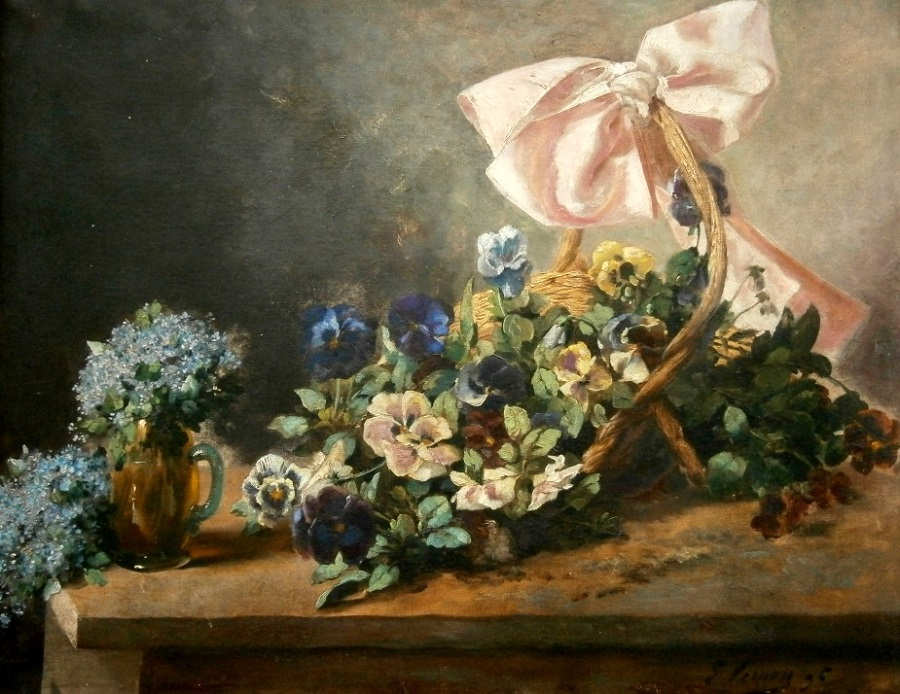 Flowers and pink bowl , 1896
