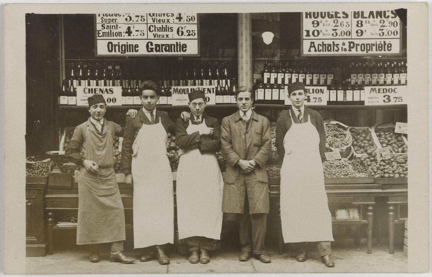 1915-1925. Бакалея, алкоголь