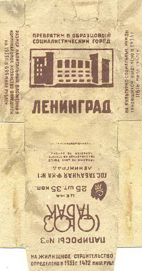 Папиросы Ленинград