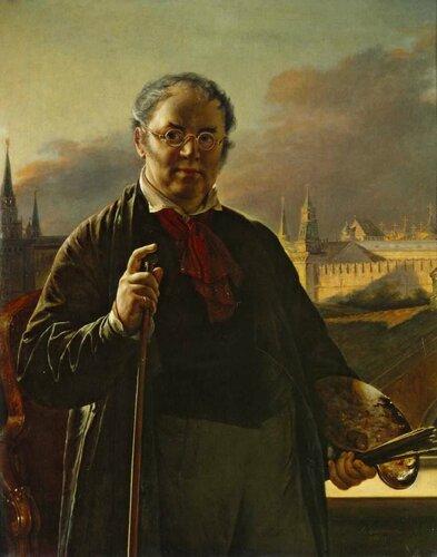 «Автопортрет на фоне окна, с видом на Кремль»1846г.