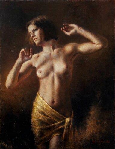 Yvonne Jeanette Karlsen (1966, Norwegian) Dancing woman