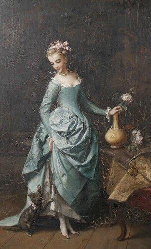 Emmanuel Branger (19 век) - Игры котенка