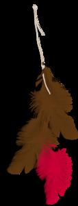 перья коричневые