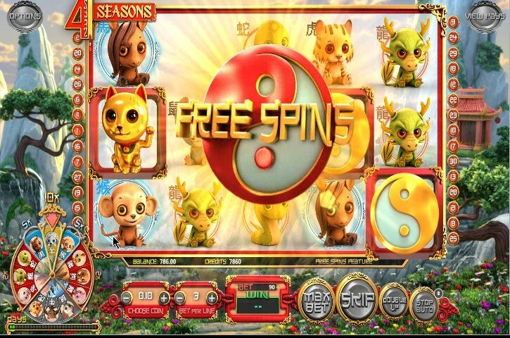 4 Seasons free spins