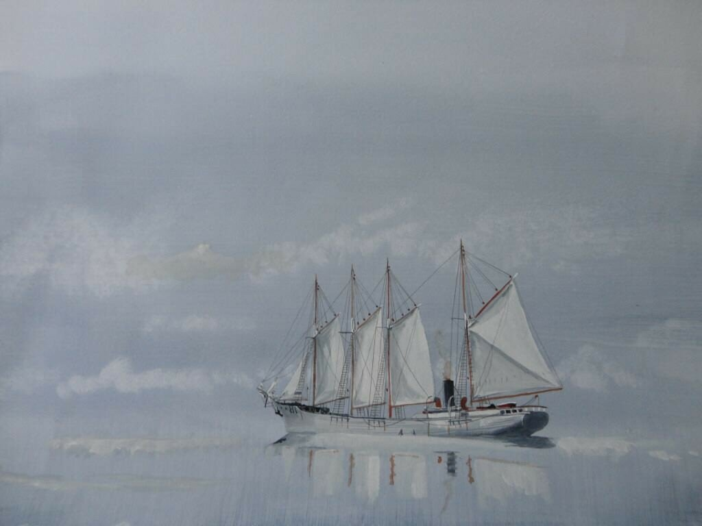 Randfontein Foldin1. One from the Whale Factory Ship book I helped illustrate. Now in the museum at Sandfjord Norway.