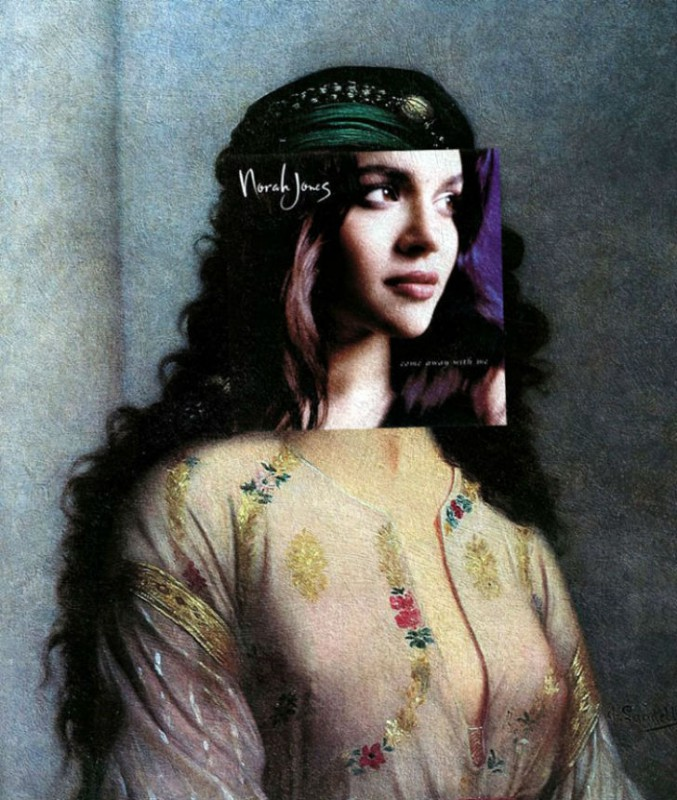 Обложка альбома Норы Джонс Come Away with Me и картина Шарля Ланделла «Еврейка из Танжера».