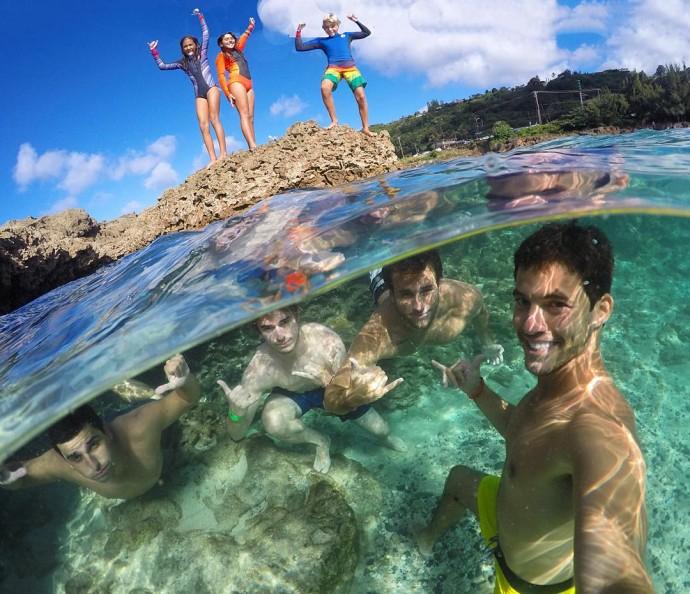 Селфи под водой