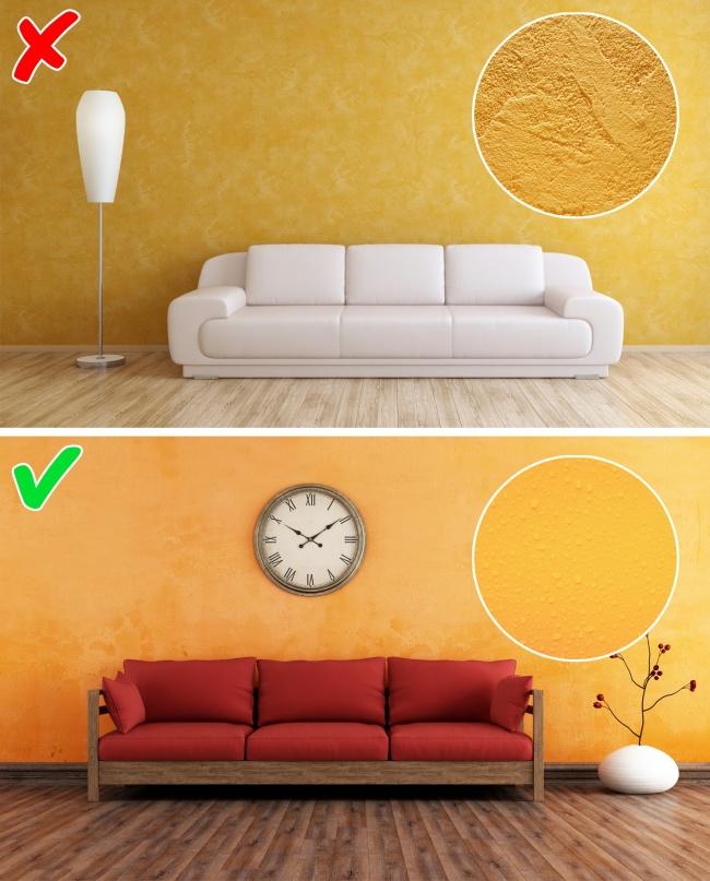 Воск всоставе краски создает наповерхности стены защитный слой, который отталкивает загрязнения. Е
