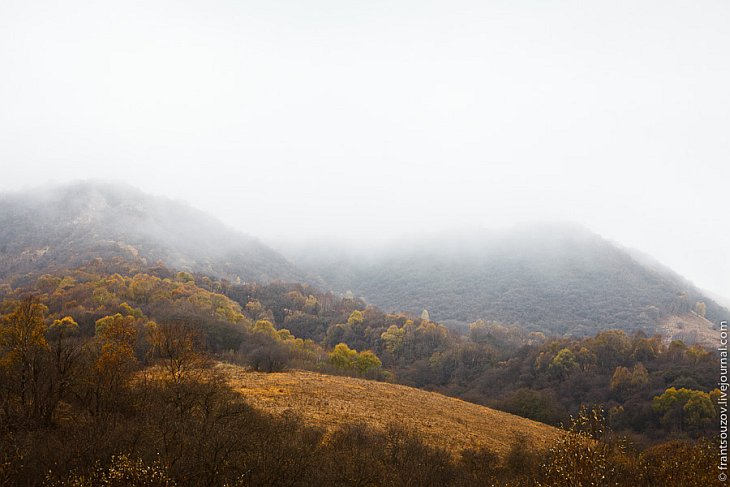 Вид с перевала Гум-Баши: