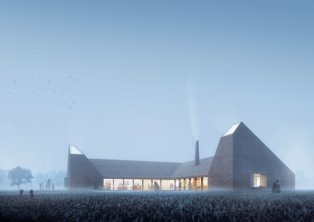 Reiulf Ramstad Architects has won the competition for the Kornets Hus (grain house) proposal in