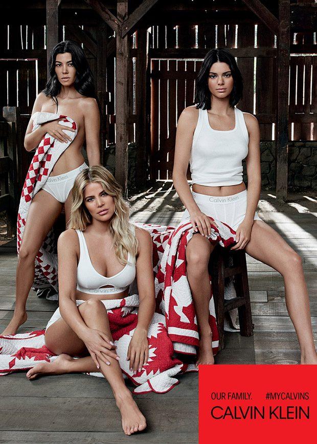 Kardashian & Jenner Siblings Model Calvin Klein SS18 Underwear & Jeans Collection