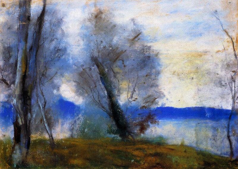 На озере Гарда. Лессер Ури 1897, 35.5×49 см