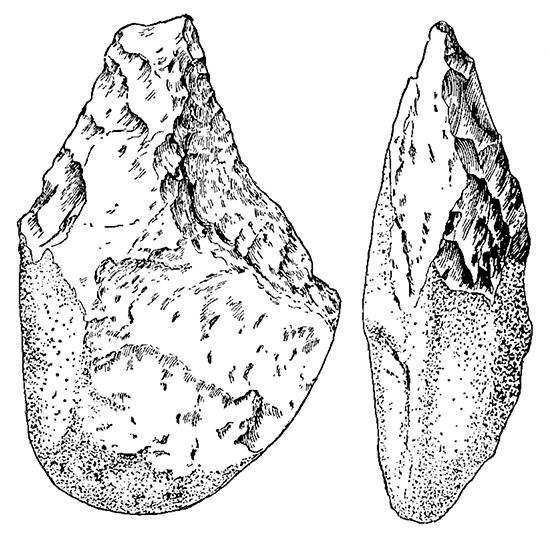 Ручное рубило раннешелльского типа. Африка, Олдовэйское ущелье.