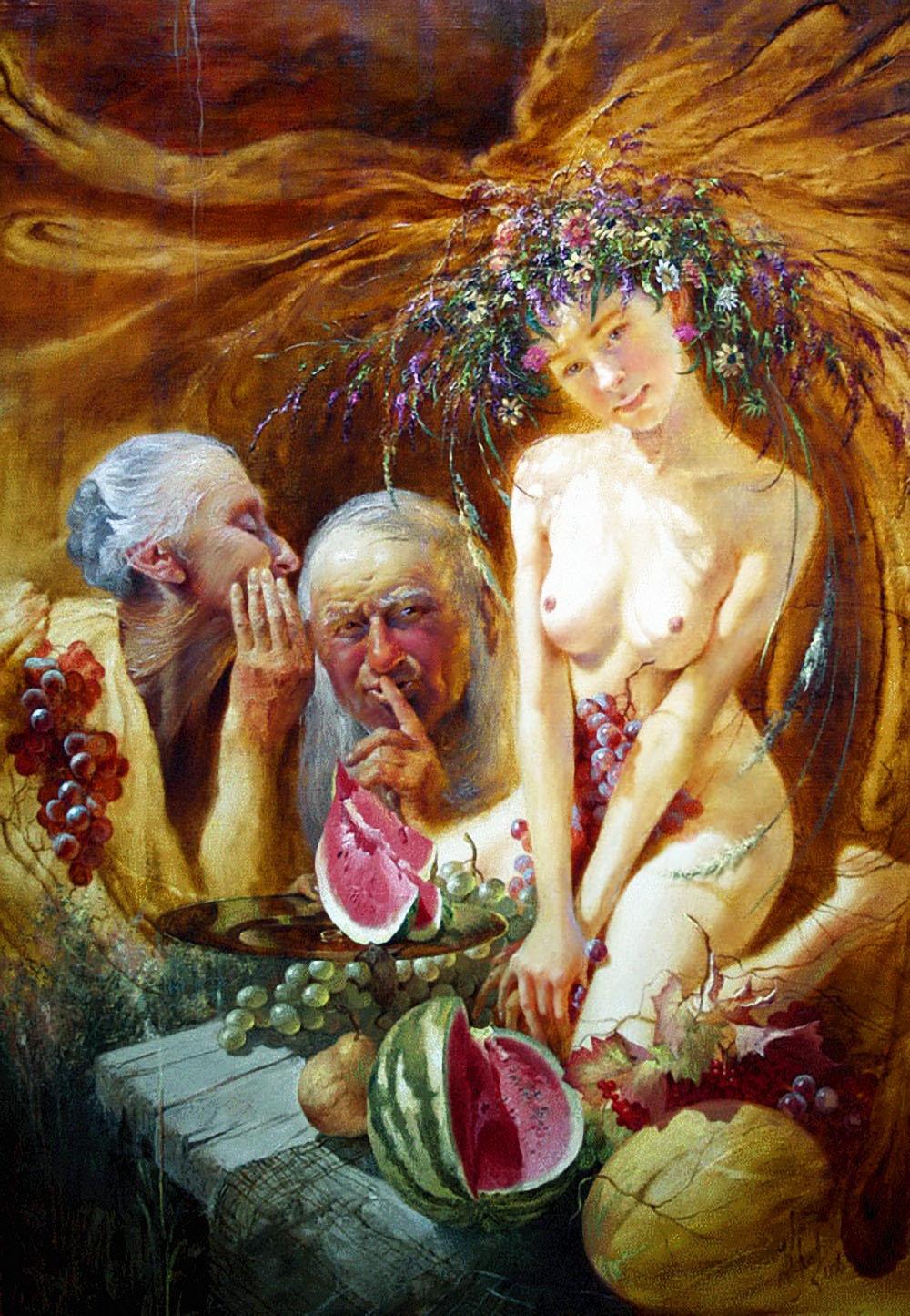Image result for Юрий Клапоух «Натюрморт с невестой», 2007 г.