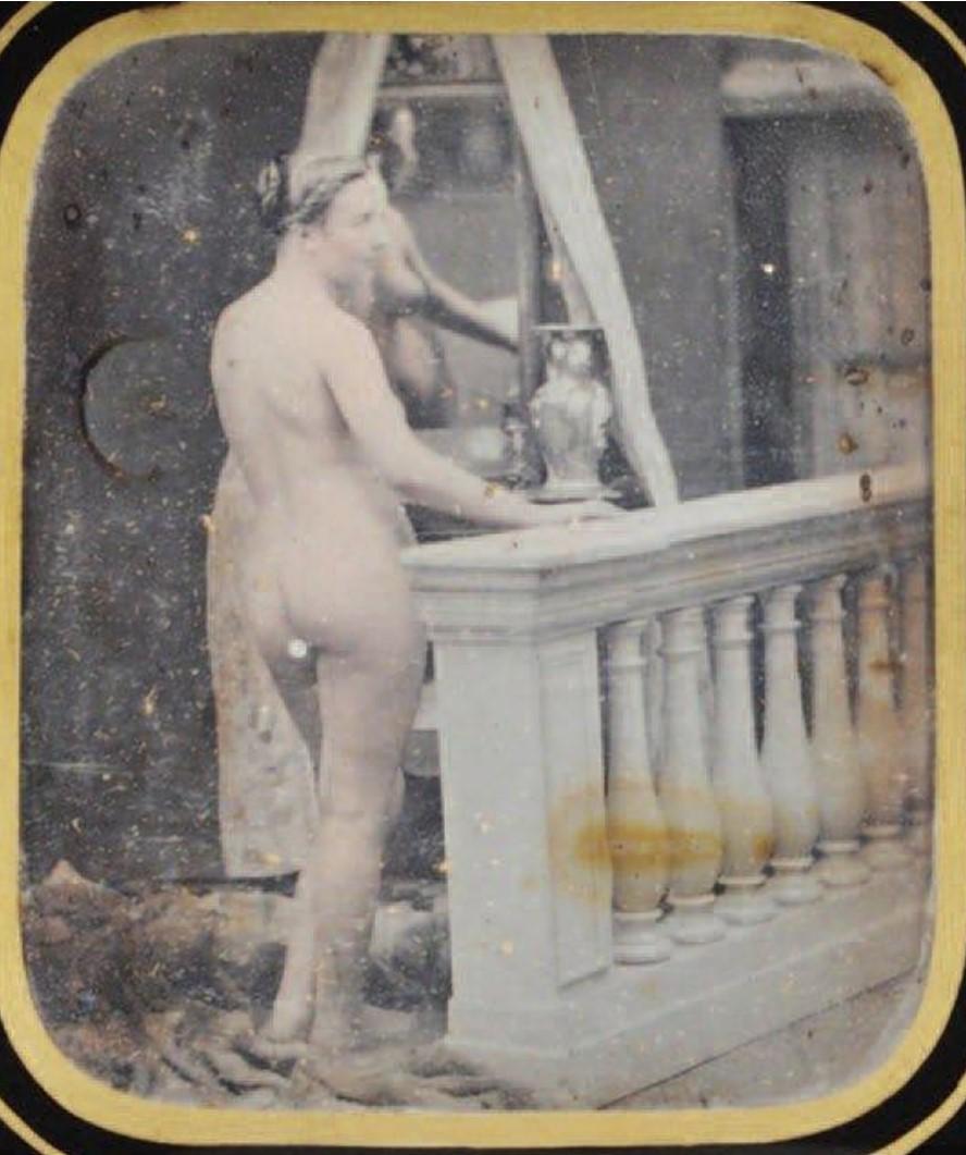 1850. Обнаженная у перил