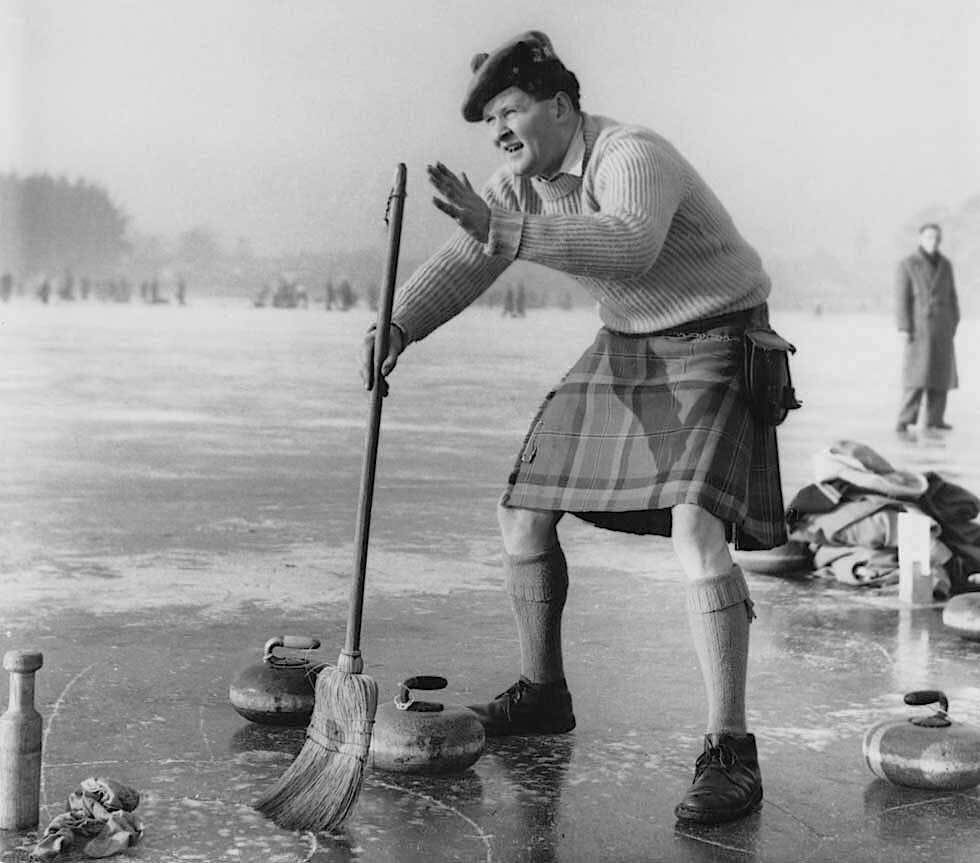 Curling Club on Lake Loch Leven, Kinross, Scotland, in 1959.jpg