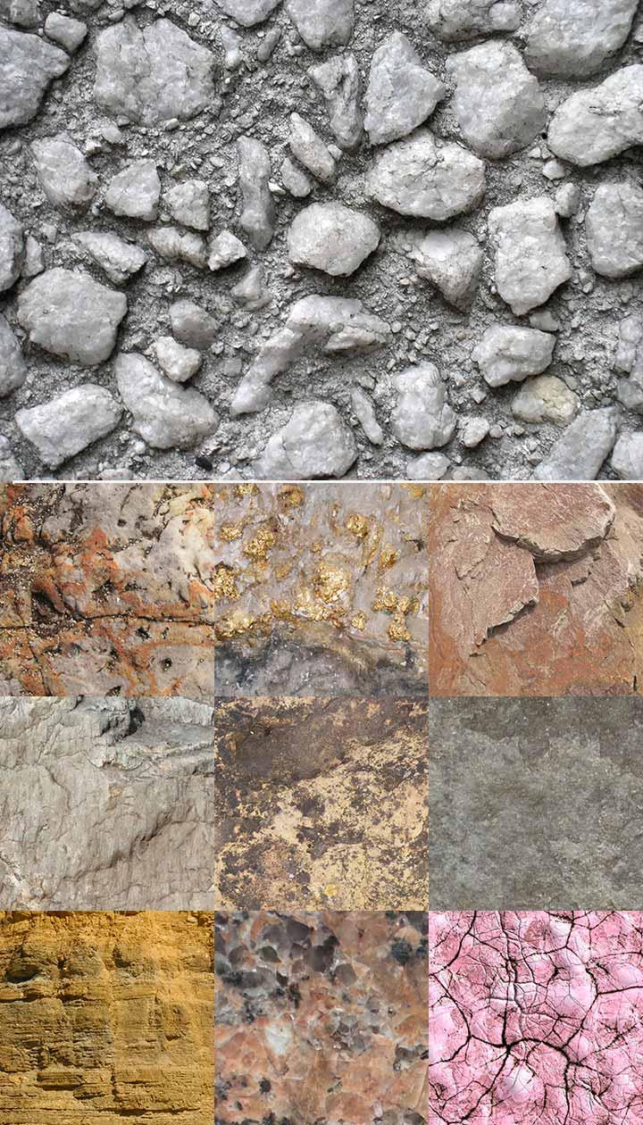 Текстуры камней и скал